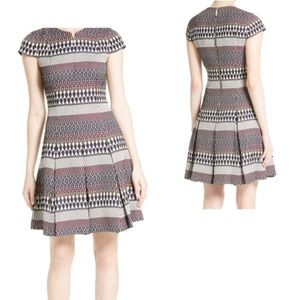 Ted Baker Jacquard Skater Dress NWT